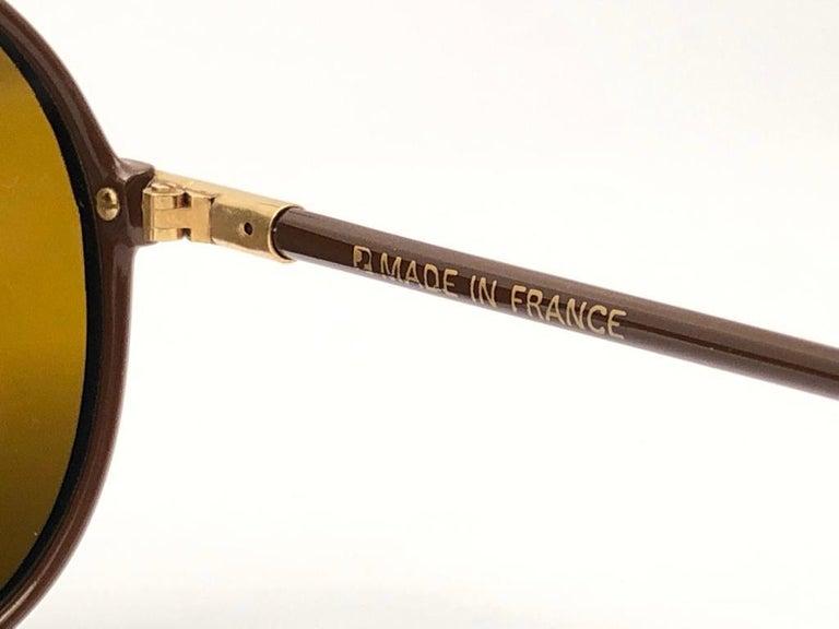 New Vintage Yves Saint Laurent YSL WINGS 8403 Oversized  1980 France Sunglasses For Sale 4