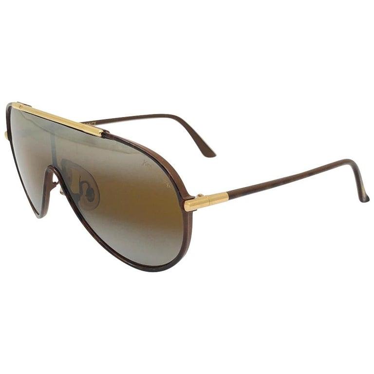 New Vintage Yves Saint Laurent YSL WINGS 8403 Oversized  1980 France Sunglasses For Sale