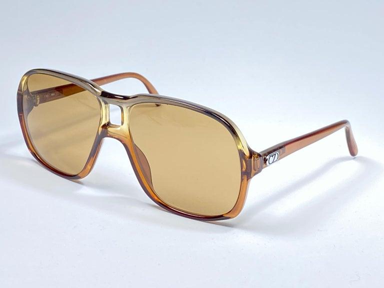 Beige New Vintage Zeiss 8062 Tortoise Frame Brown Lenses 1970's Sunglasses For Sale