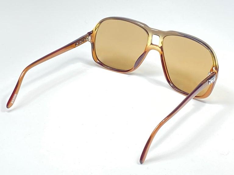 New Vintage Zeiss 8062 Tortoise Frame Brown Lenses 1970's Sunglasses For Sale 1