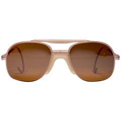 New Vintage Zeiss Metallic Rose Frame Mirror Lenses West Germany 1970 Sunglasses