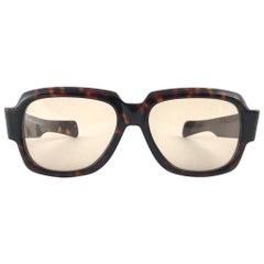 New Vintage Zollitsch 217 Dark Tortoise Robust Frame Green Lens 1970 Sunglasses