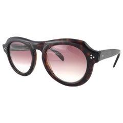 New Vintage Zollitsch 228 Dark Tortoise Robust Frame Gradient 1970 Sunglasses