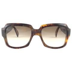 New Vintage Zollitsch 249 418 Robust Oversized Frame Brown Lens 1970 Sunglasses