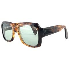 New Vintage Zollitsch 249 420 Robust Oversized Frame Green Lens 1970 Sunglasses