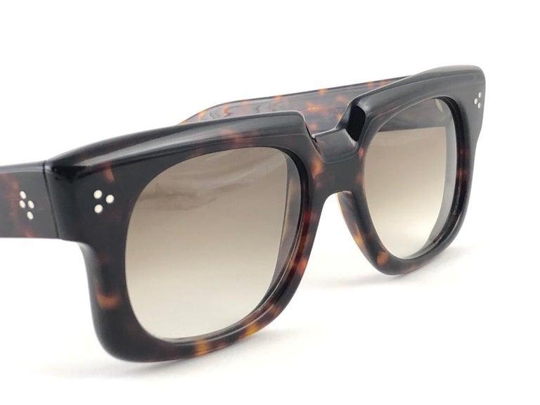 New Vintage Zollitsch 302 Dark Tortoise Robust Frame Gradient 1970 Sunglasses For Sale 6