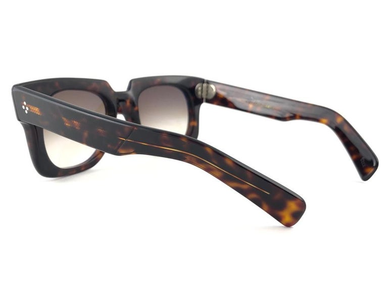 New Vintage Zollitsch 302 Dark Tortoise Robust Frame Gradient 1970 Sunglasses For Sale 1