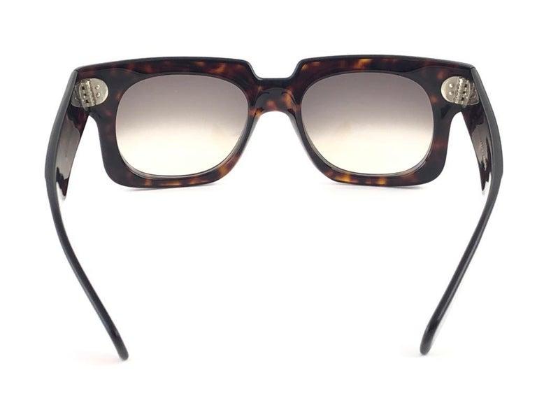 New Vintage Zollitsch 302 Dark Tortoise Robust Frame Gradient 1970 Sunglasses For Sale 4