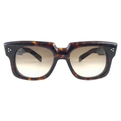 New Vintage Zollitsch 302 Dark Tortoise Robust Frame Gradient 1970 Sunglasses