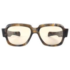 New Vintage Zollitsch MOD 217 Robust Oversized Frame Brown Lens 1970 Sunglasses