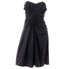New w/ Tags John Galliano Christian Dior 2007 Black Evening Dress w Glass Beads