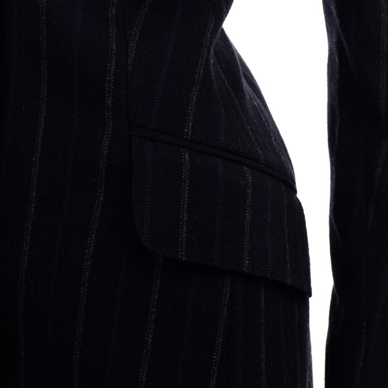 New w/ Tags Marc Jacobs for Louis Vuitton 2010 Pinstripe Coat W Gathered Sleeves For Sale 5