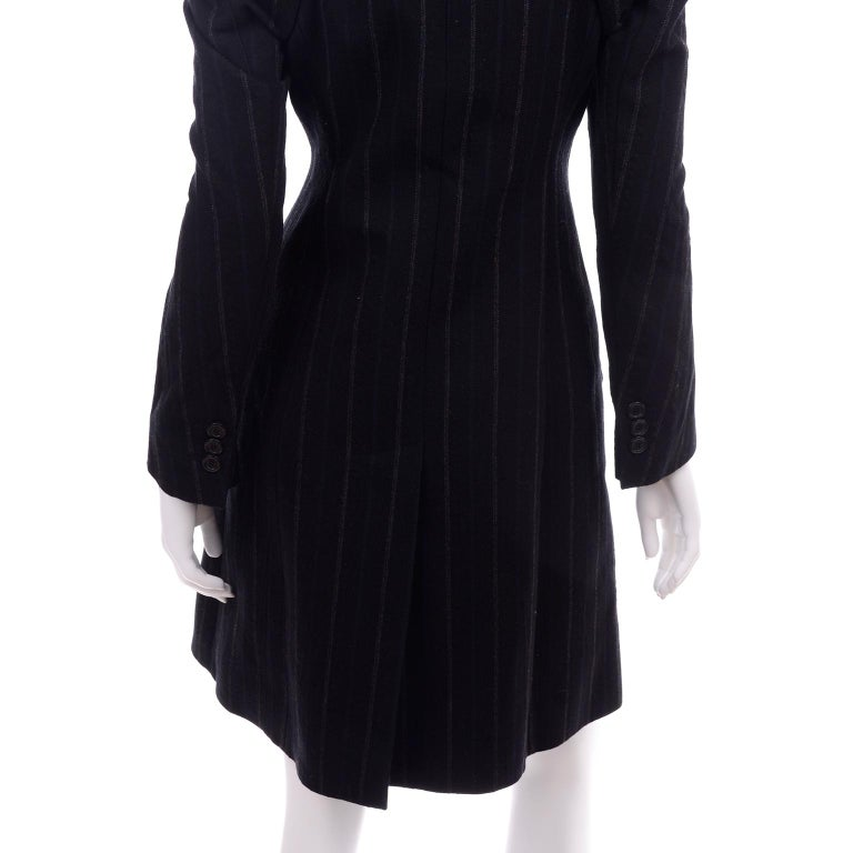 New w/ Tags Marc Jacobs for Louis Vuitton 2010 Pinstripe Coat W Gathered Sleeves For Sale 7