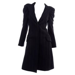 New w/ Tags Marc Jacobs for Louis Vuitton 2010 Pinstripe Coat W Gathered Sleeves