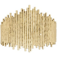 New Wall Indoor Made of Brass Tube Featuring Faux Bamboo