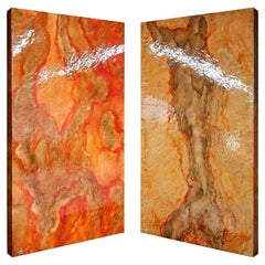 """New Wall Panel Lighting finished in Translucent """"Marbled"""" Painting"""
