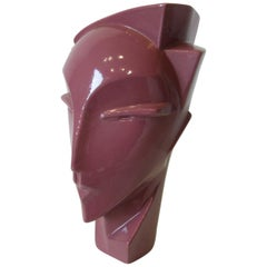 New Wave / Art Deco Styled Pottery Head by Haeger