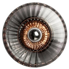 New Wave Extra Large Optic Wall Lamp, Smoke 'Extra Large Size'
