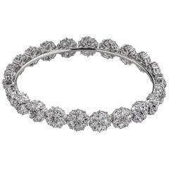 White Topaz Blossom Gemstone Wraparound Bracelet
