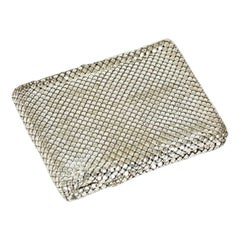 New Whiting & Davis Silver Mesh Billfold Wallet – Original Box, 1950s