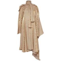 NEW Y/Project's Runway Gold Maxi Dress sz FR38 US4