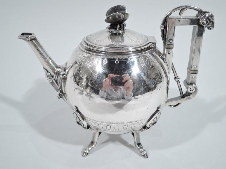 Aesthetic Movement New York Aesthetic Tea Set by John Wendt for Ball, Black For Sale