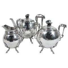 New York Aesthetic Tea Set by John Wendt for Ball, Black