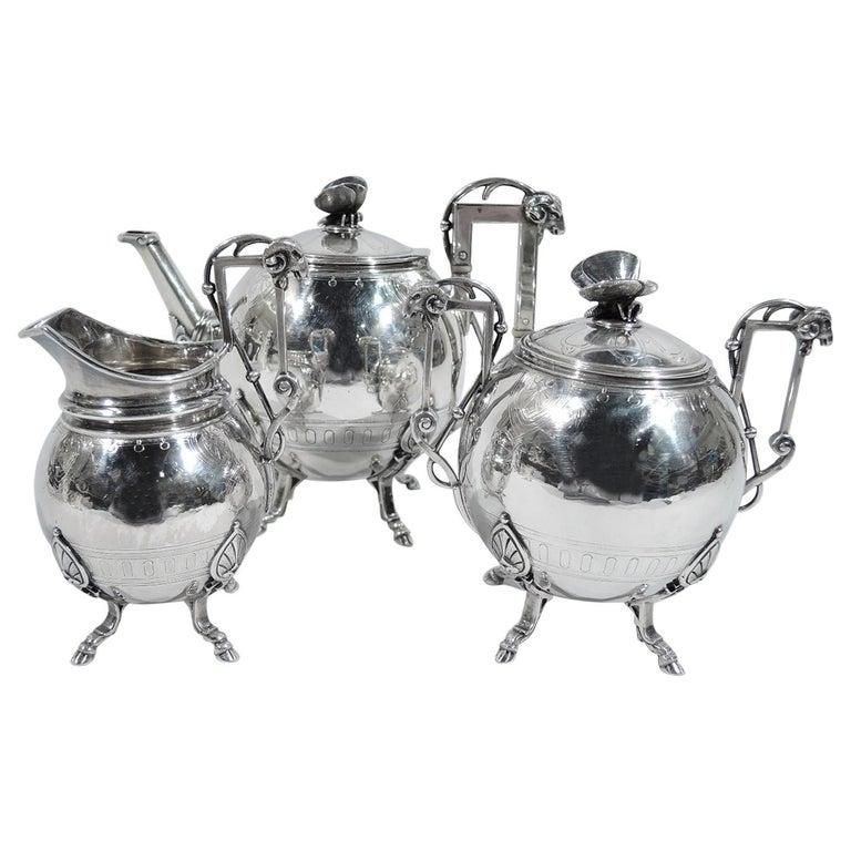 New York Aesthetic Tea Set by John Wendt for Ball, Black For Sale