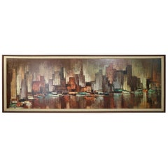New York City Scape Skyline Maio for Turner Print