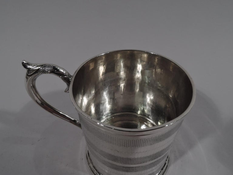 American Classical New York Classical Coin Silver Baby Cup by Wood & Hughes For Sale