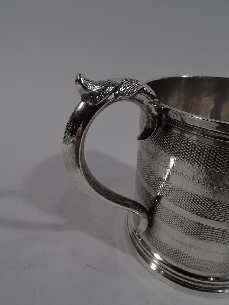 North American New York Classical Coin Silver Baby Cup by Wood & Hughes For Sale