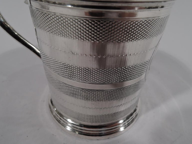 New York Classical Coin Silver Baby Cup by Wood & Hughes In Good Condition For Sale In New York, NY