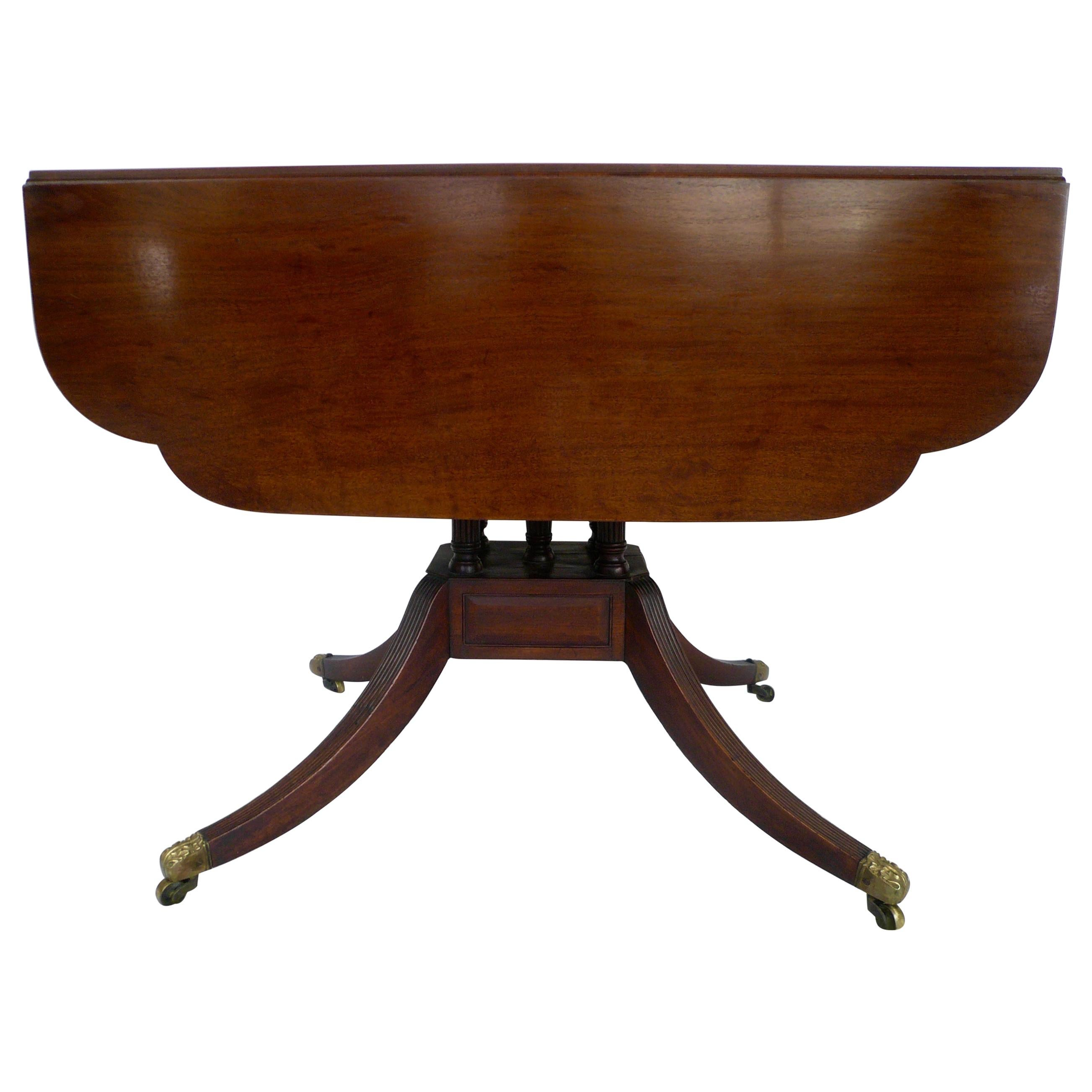 New York Federal Mahogany Drop Leaf Table School Of Duncan Phyfe For Sale At 1stdibs