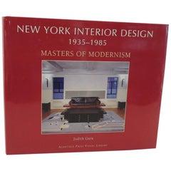 New York Interior Design Masters of Modernism Book by Judith Gura
