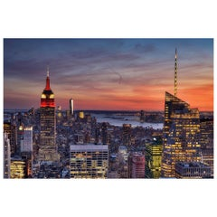New York Manhattan Landscape, Color Photography Fine Art Print by Rainer Martini