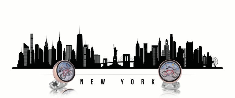DEAKIN & FRANCIS, Piccadilly Arcade, London  Do you love a bit of sight-seeing, or like to marvel at the wonders of your favourite city? These moving scene cufflinks of New York are perfect for spotting your favourite tourist attractions. Twist the