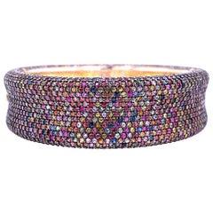 Lucea New York Multicolored Sapphire Cuff Bracelet