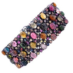 Lucea New York Multicolored Tourmaline Statement Bracelet