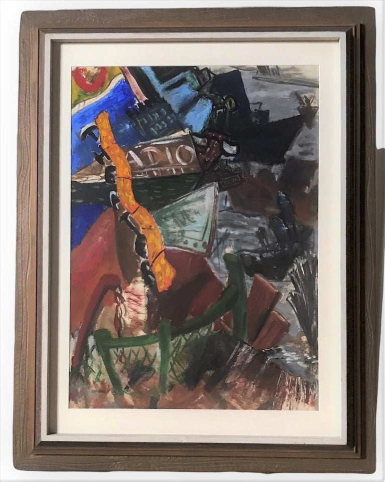 New York Nightlife Post Impressionist Painting Anonymous Artist New York 1950s For Sale 5