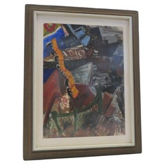 New York Nightlife Post Impressionist Painting Anonymous Artist New York 1950s