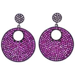 Lucea New York Pink Sapphire and Diamond Earrings