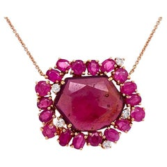 Lucea New York Ruby and Diamond Necklace