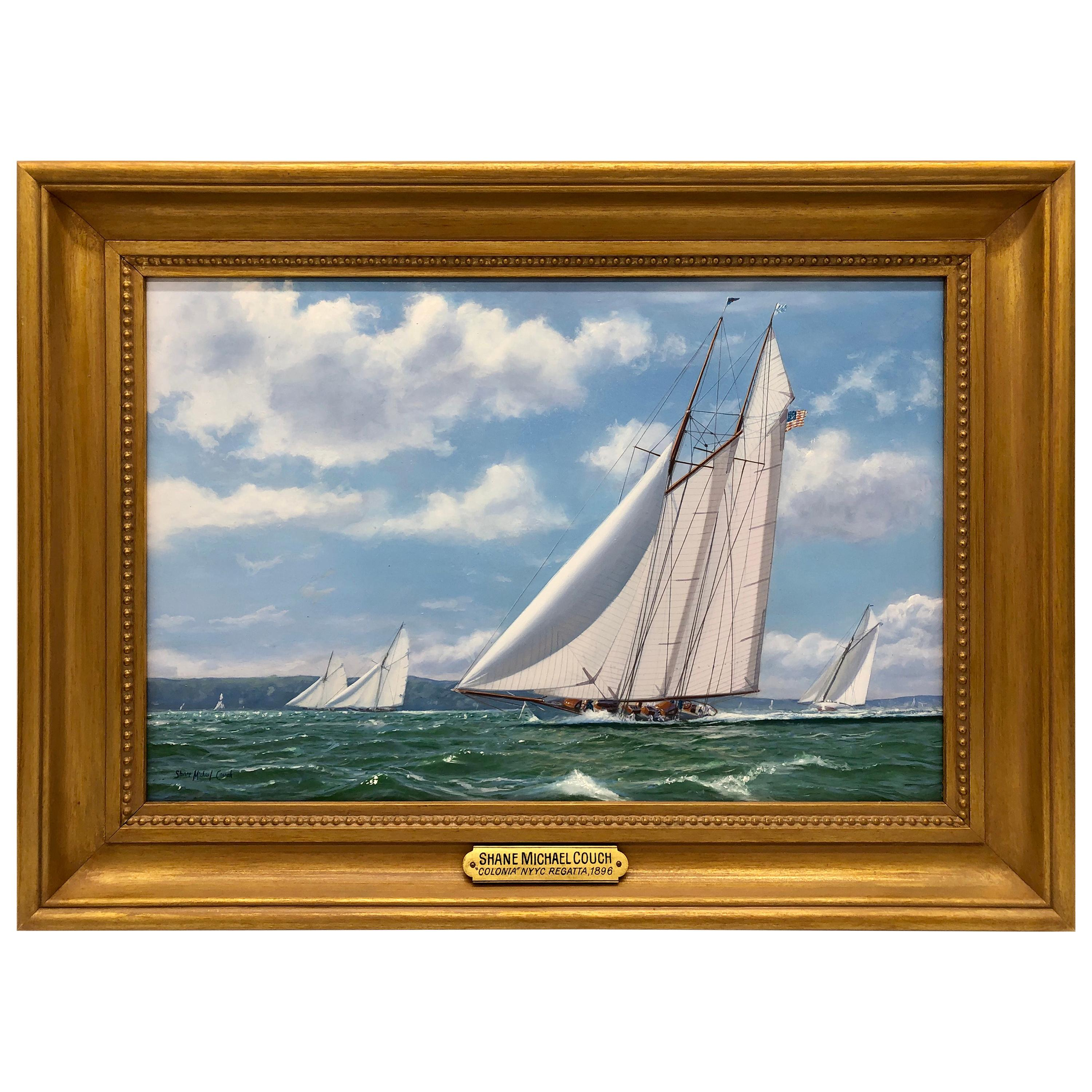 """""""New York Yacht Club Race, 1893"""" by Shane Michael Couch"""