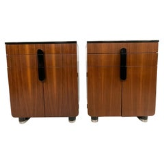 New Yorker Donald Deskey Industrial Art Deco Cabinets Satinwood Gloss, 1930s USA