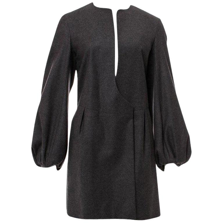 Yves Saint Laurent Fall Winter 2007 Brand New Without Tags $2275 Butter Soft Runway Wool Cashmere Coat FR40  Easily fits Sizes 0 - 12 due to it's oversized nature We also have this in a Size 36 Dual Slit Side Pockets Hidden Double Button Closure at