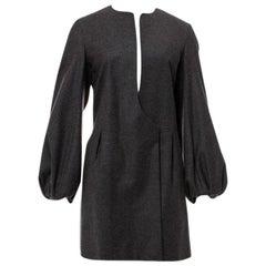 New Yves Saint Laurent  F/W 2007 Runway Wool Cashmere Coat Dress Sz 34