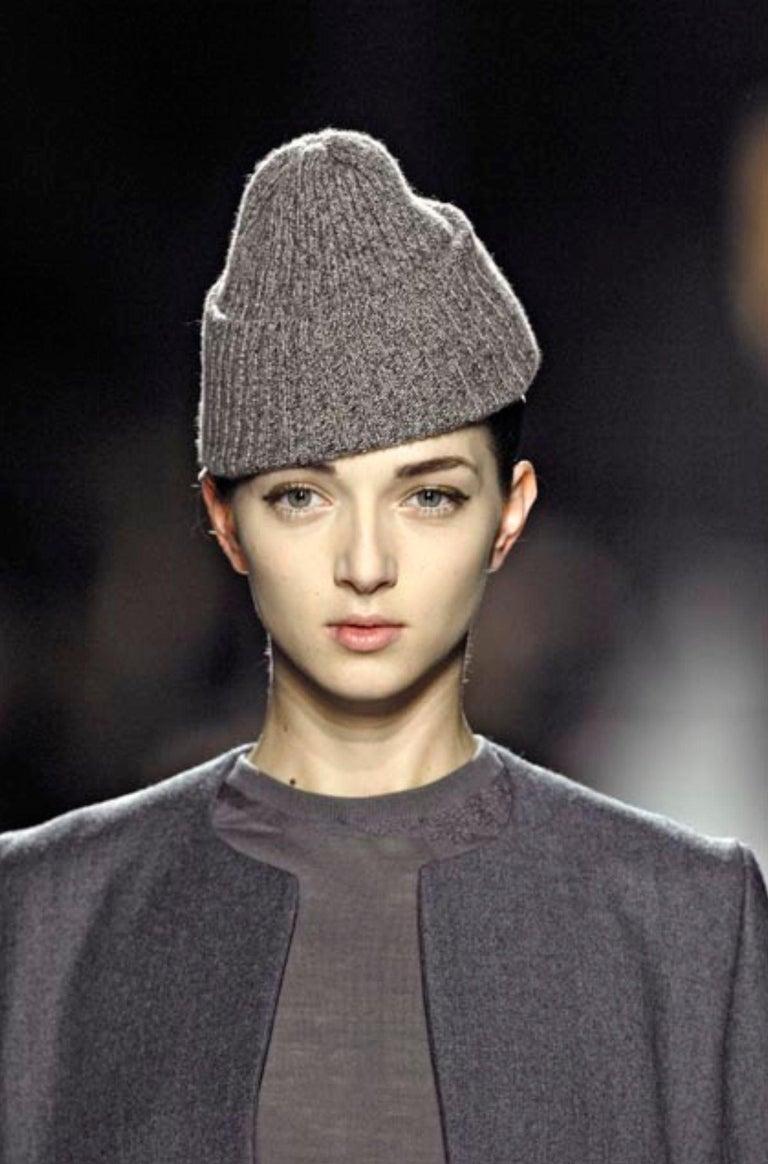 New Yves Saint Laurent  F/W 2007 Runway Wool Cashmere Coat Dress Sz 36 For Sale 5