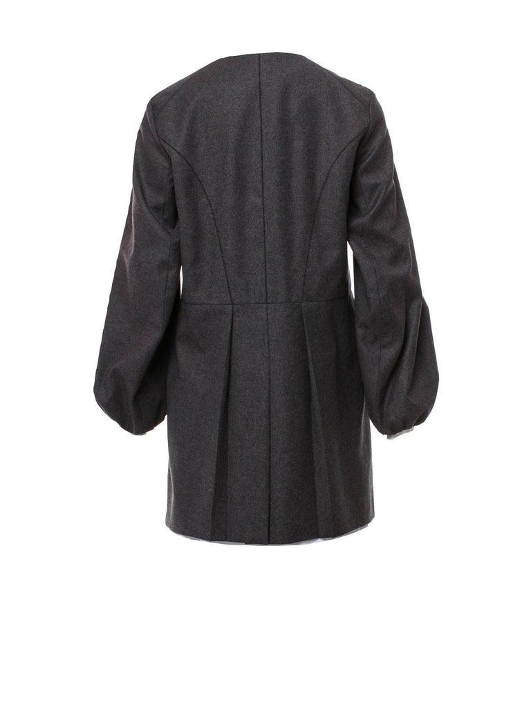 New Yves Saint Laurent  F/W 2007 Runway Wool Cashmere Coat Dress Sz 36 For Sale 7
