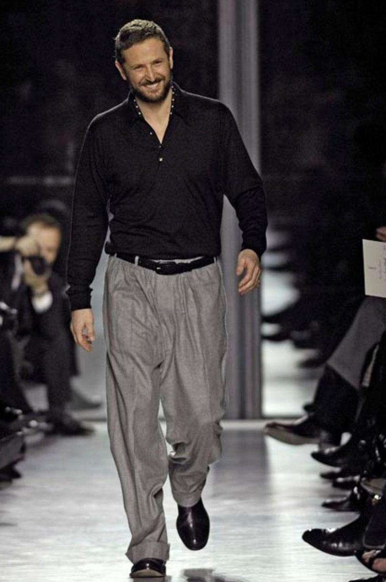 New Yves Saint Laurent  F/W 2007 Runway Wool Cashmere Coat Dress Sz 36 For Sale 9