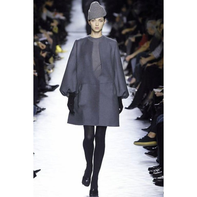 New Yves Saint Laurent  F/W 2007 Runway Wool Cashmere Coat Dress Sz 36 For Sale 10